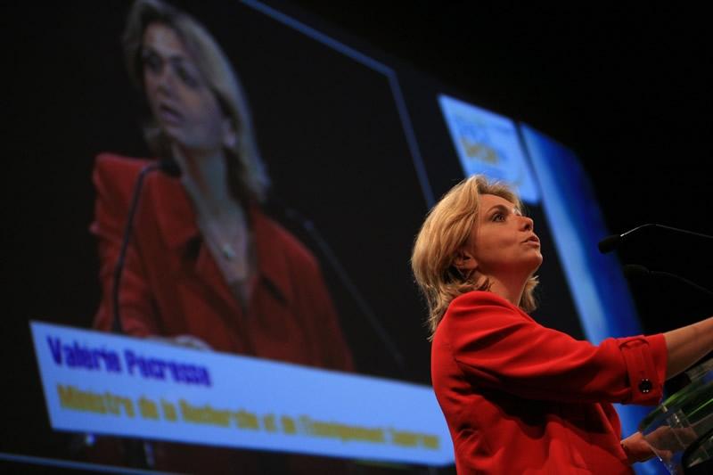 Inauguration du Toulouse Space Show par Valérie Pécresse, ministre de la recherche. Cnes/Benjamin Guindre, 2008