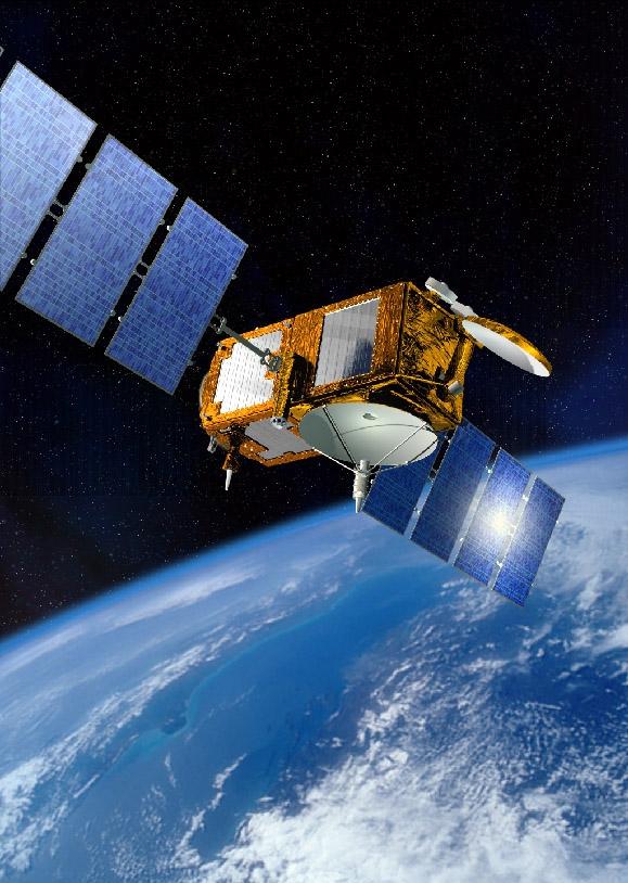 Le satellite JASON-2. Crédits : CNES, juin 2005/Illust. D. Ducros