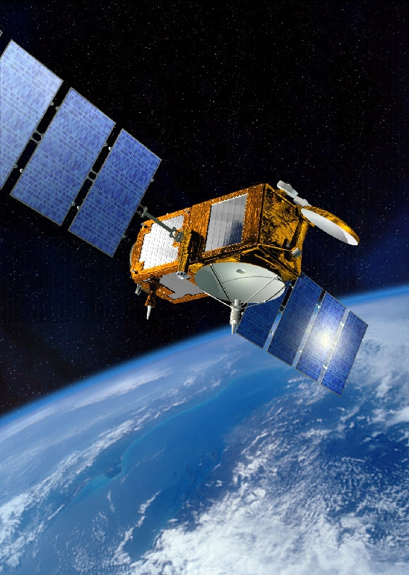 The Jason-2 satellite. Crédits : CNES, juin 2005/Illust. D. Ducros