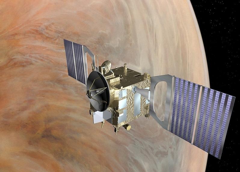 Vue d'artiste de Venus Express. Crédits : ESA