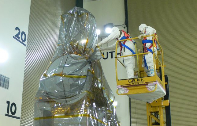 Jason-2 a été «emballé» comme un paquet cadeau le 1er juin.