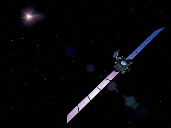 La sonde Rosetta est en orbite depuis 2004. Crédit : ESA/AOES Medialab.