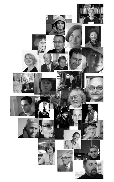 """Les écrivains ayant participé à """"Fictions européennes"""""""
