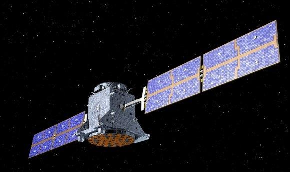 Un des 30 satellites de la constellation. Crédits : ESA.
