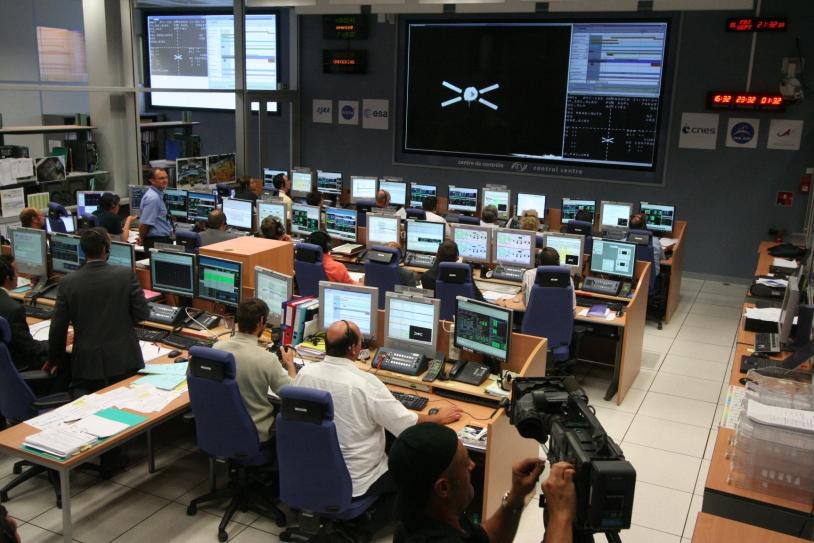 Le désamarrage a été piloté depuis le centre de contrôle ATV-CC du CNES à Toulouse. Crédits : ESA.