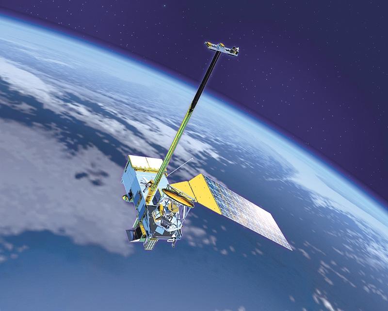 Satellite NPOESS de la NOAA. Crédits : NOAA.
