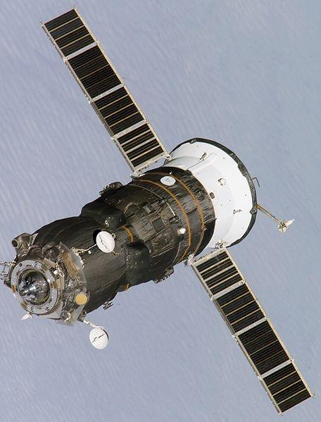 Cargo russe Progress dans lequel Amino a été placée. Crédits : NASA.