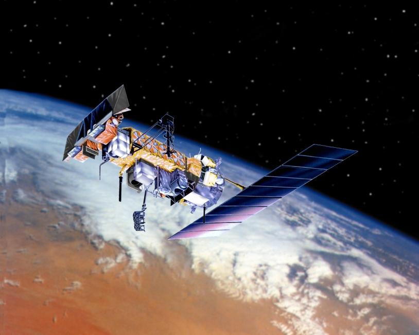 Le satellite NOAA-N'. Crédits : Ill. NASA.