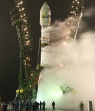 CoRoT was launched from the Baikonur Cosmodrome on 27 December 2006. Credits: CNES/AAS/Starsem 2006.