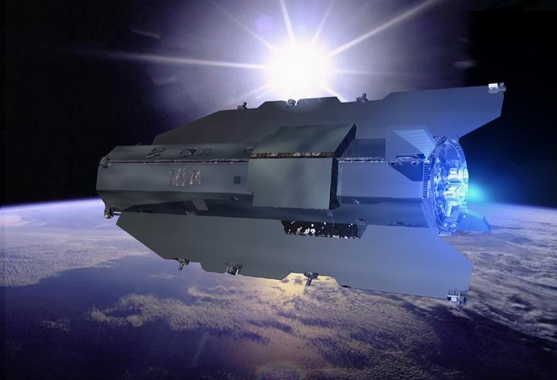 GOCE volera à seulement 260 km d'altitude. Crédits : ESA/Ill.