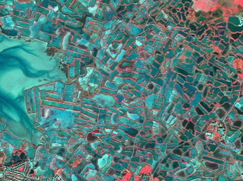 Spot 5, résolution 2,5 m, La Baule. Crédits : CNES 2004 - Distribution Spot Image S.A.