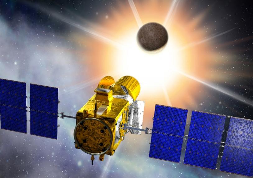 CNES's CoRoT space telescope. Credits: CNES/D. Ducros.