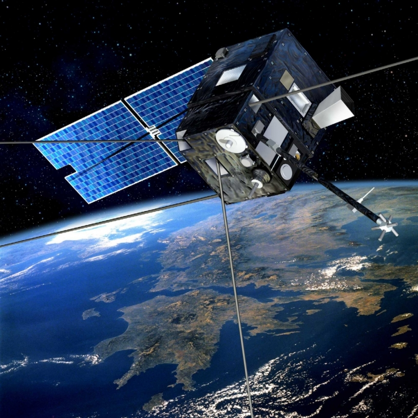 Le microsatellite du CNES Demeter étudie l'atmosphère depuis l'espace. Crédits : CNES/Ill. D Ducros.