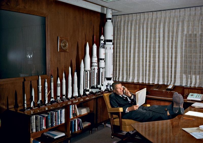 Werner Von Braun en 1964. Crédits : Hulton Arcive/Getty Images/TASCHEN
