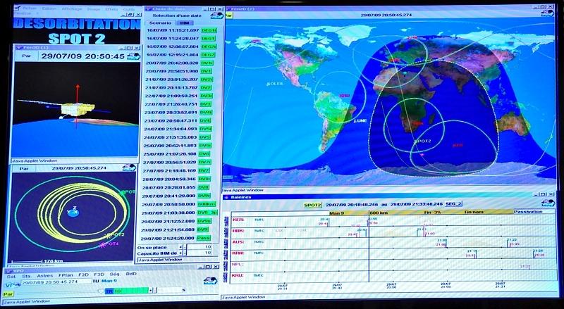 Durant les 15 j de manoeuvre, Spot-2 a perdu 200 km d'altitude. Crédits : CNES/E.Grimault.