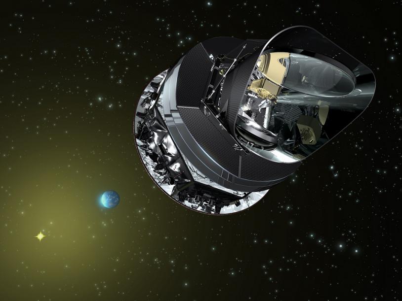 Le satellite planck a été lancé avec Herchel le 14 mai 2009. Crédits : ESA.