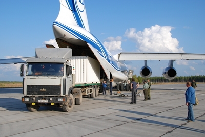 SMOS's flight companion, Proba-2, arrived at the Plesetsk Cosmodrome on 27 August. Credits: ESA.