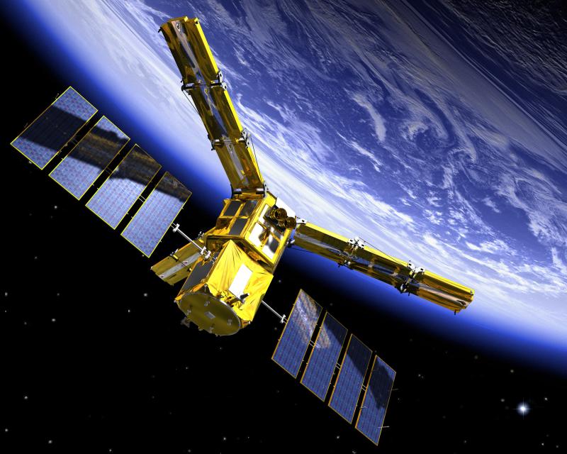 SMOS devrait être mis en orbite le 2 novembre prochain. Crédits : CESBIO.