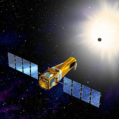 CoRoT entered orbit in December 2006. Credits: CNES/Ill. D. Ducros.