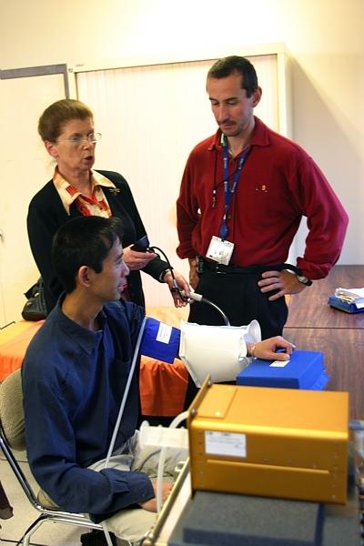 Cardiomed testé au CNES à Toulouse. Crédits : CNES/P. JALBY.