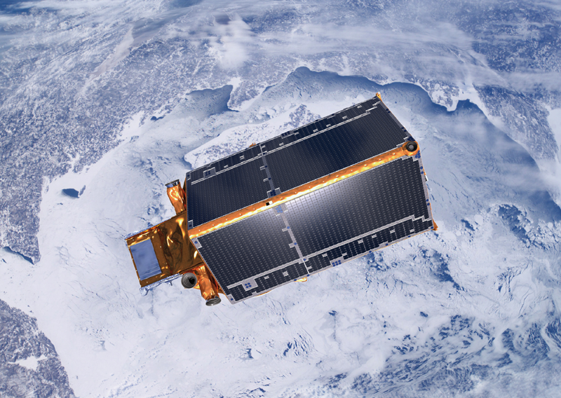 Cryosat-2 is scheduled to monitor ice surfaces for 3 years. Credits: ESA.