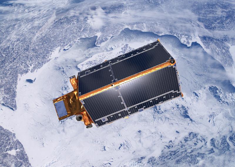 Cryosat-2 doit suivre pendant 3 ans l'évolution des glaces. Crédits : ESA.