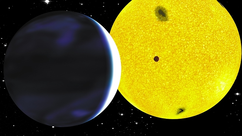 CoRoT-7b, the 1st Earth-like exoplanet discovered in 2008 by CoRoT. Credits: CNES/P. Prodhomme.