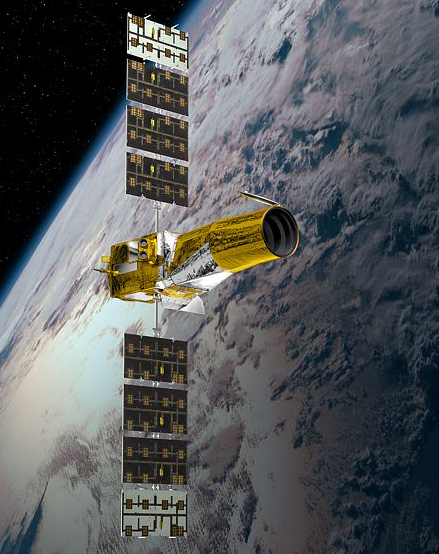 The CoRoT spacecraft has been in orbit since 2006. Credits: CNES/Ill. D. Ducros.