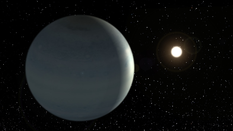 CoRoT-9b, the 1st temperate Jupiter-like exoplanet observed transiting its star. Credits: Instituto de Astrofísica de Canarias.