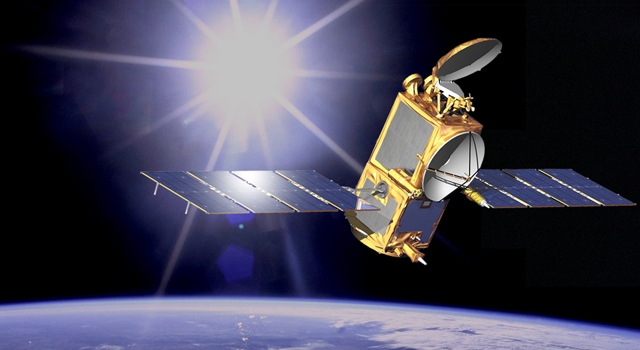 The Jason-2 satellite in orbit since 2008. Credits: NASA/JPL-Caltech.
