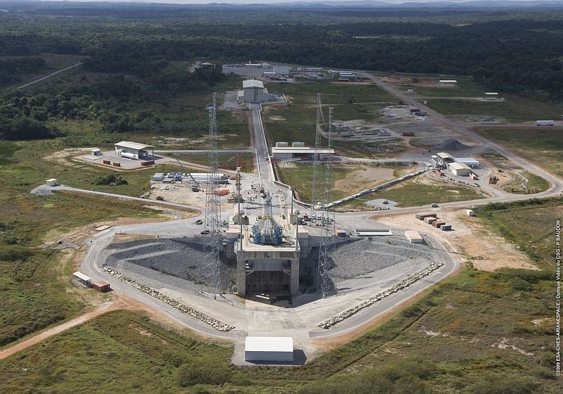 Progress at the Soyuz site in French Guiana, November 2009. Credits: CNES/ESA/Arianespace/P. Baudon.