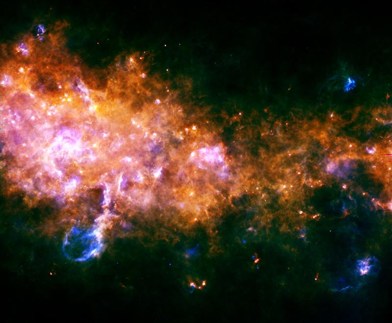 Stellar nurseries in the Milky Way. Credits: ESA/Hi-GAL Consortium.