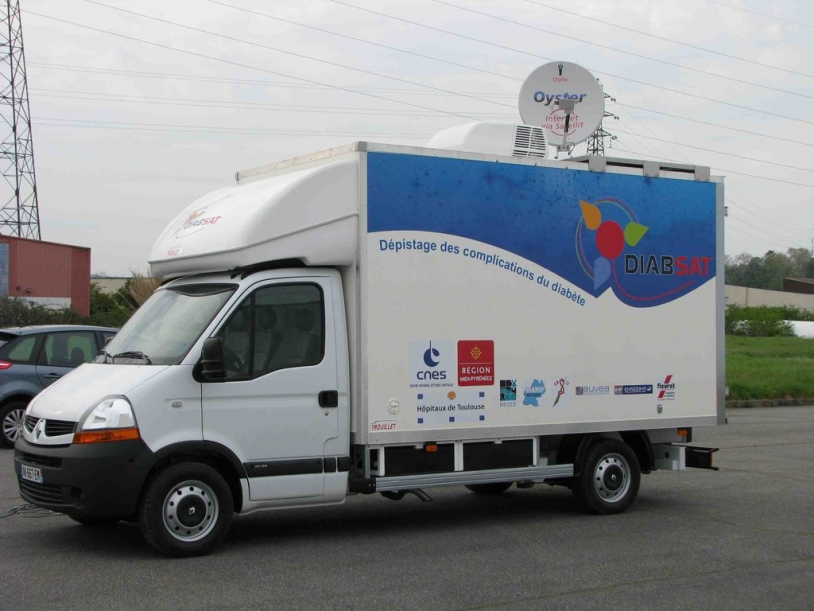 The Diabsat vehicle will be touring 54 towns and villages in the Gers region starting on 17 May. Credits: CNES.