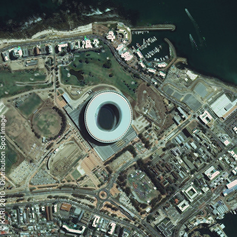 Green Point Stadium, Cape Town, where France and Uruguay are facing each other today at 20:30 CET.