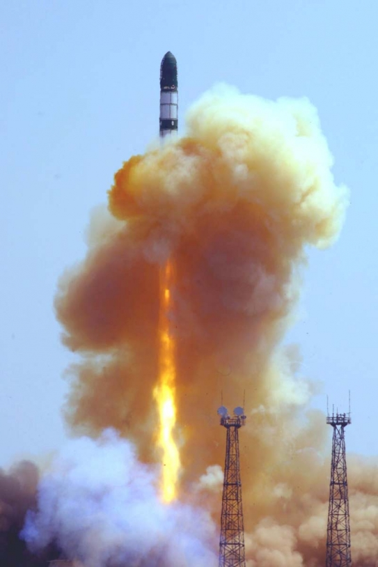 Successful launch of the converted Dnepr missile Tuesday 15 June from Yasny, Russia. Credits: Kosmotras.