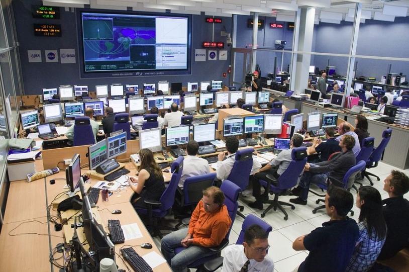ATV-CC control centre at CNES, Toulouse. Credits: CNES/H. Piraud.