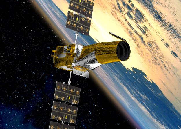 Télescope CoRoT. Crédits : ESA/CNES.
