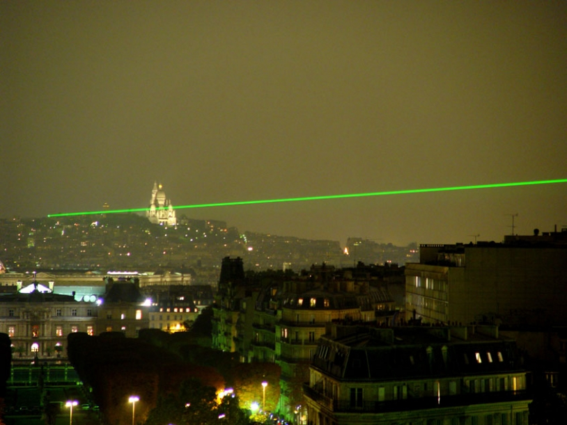 The Paris Observatory will continue the laser pulse experiment throughout the summer. Credits: Observatoire de Paris-Meudon/D. Monseigny.
