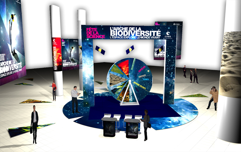 CNES is setting up stall at the Forum des Halles, Paris, from 20-24 October. Credits: CNES/Ill. Mediatec Diffusion.
