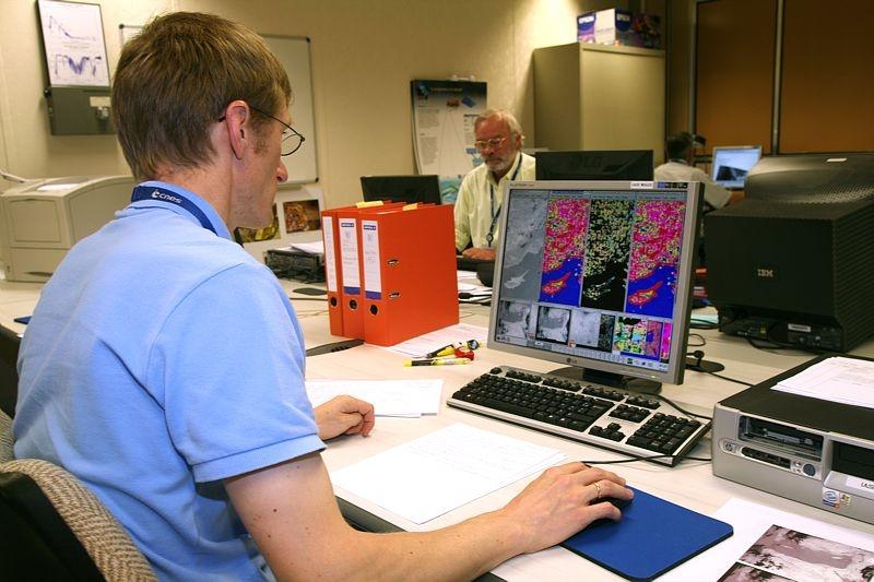 Le centre de données de IASI au CNES, à Toulouse. Crédits : CNES.