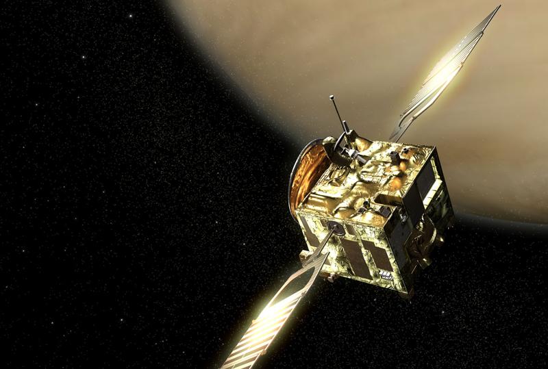 Venus Express has been in orbit around Venus since 2006. Credits: ESA/ Ill. AOES Medialab.