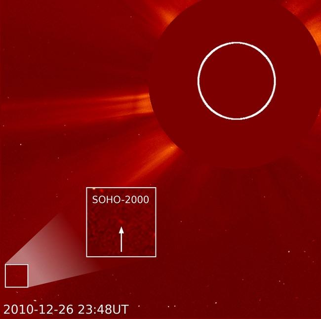 SOHO's 2,000th comet. Credits: SOHO/Karl Battams.