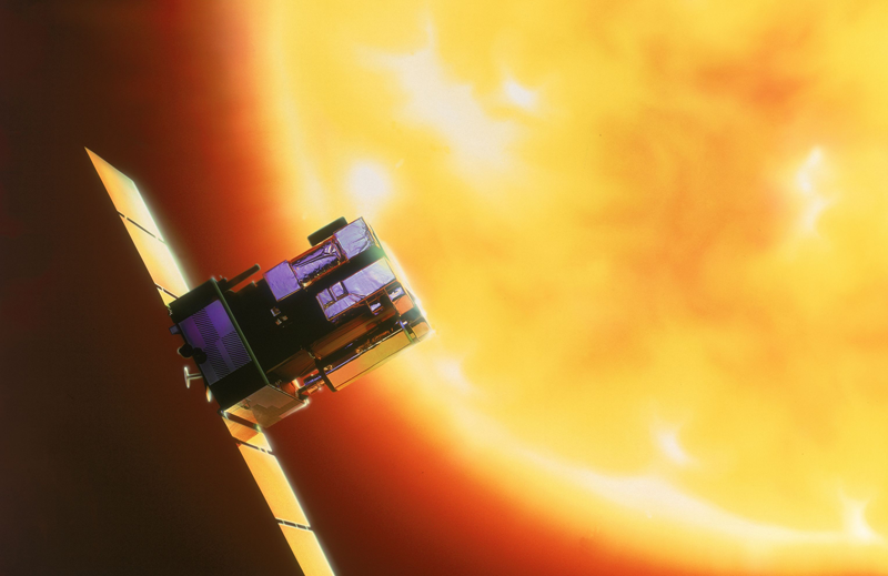 The SOHO spacecraft, in orbit since 1995. Credits: ESA.