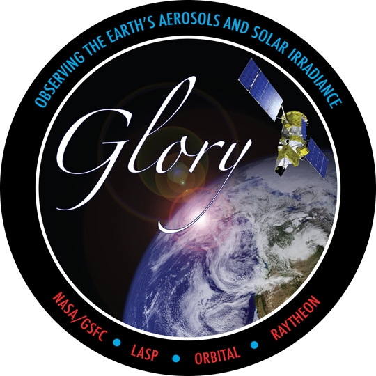 Logo de la mission Glory. Crédits : NASA.
