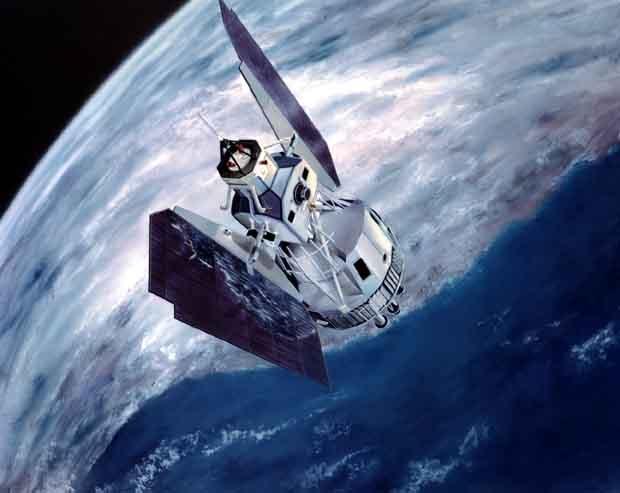 Illustration d'un satellite américain Landsat. Crédits : NASA.