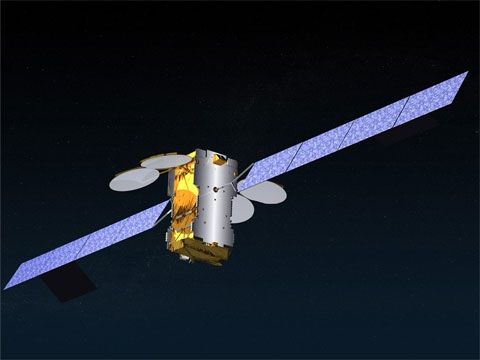 La satellite KA-SAT est en orbite depuis le 26 décembre 2010. Crédits : Eutelsat communications.