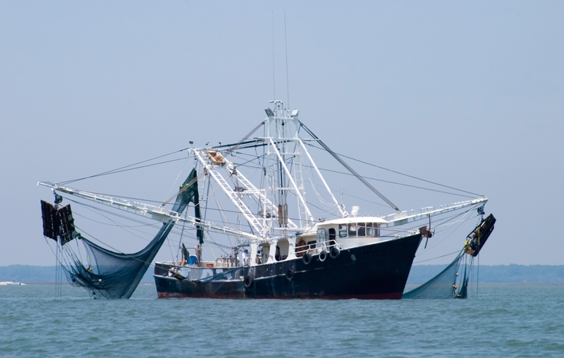 A fishing vessel monitored thanks to CLS. Credits: CLS.