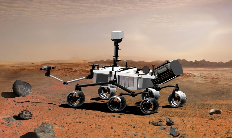 Curiosity rover. Credits : NASA.