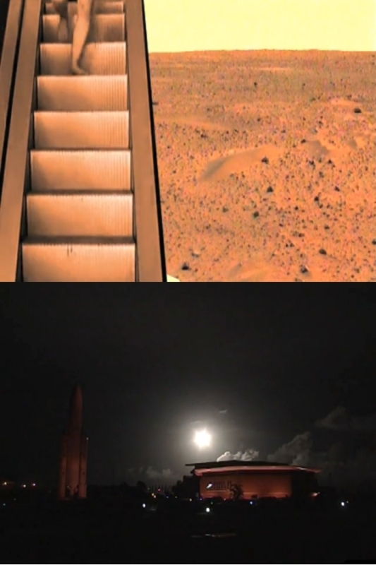 Exemples de détournements d'images spatiales opérés par les équipes en compétition. Crédits : Forum des Images.
