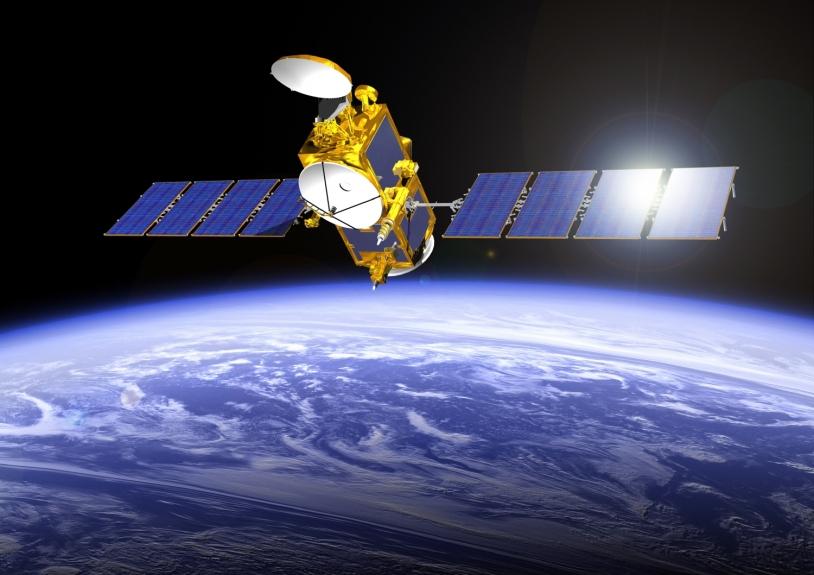 Le satellite Jason-2 en orbite depuis 2008. Crédits : CNES/Mira Productions, 2008.